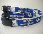 University of Kentucky adjustable dog collars-Ready to Ship