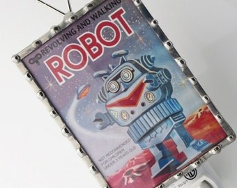 Robot Night Light - Nightlight  Vintage Robot Image - Kids Night Light - Boys Room Hallway Nite Lite N44