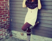 Handmade Knitted Bulky Hooded Cowl, Infinity Cozy Warm,  Chunky Neck Warmer, Large Scarf , Shrug, Poncho, Chunky Cowl,
