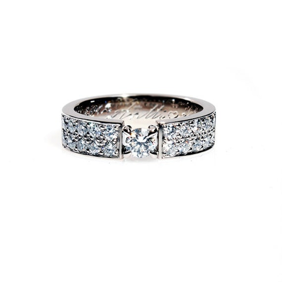 0.80ct, Diamond ring, wedding band, white gold wedding band, custom diamond ring, micro pave, engagement ring,  vintage style, wedding ring