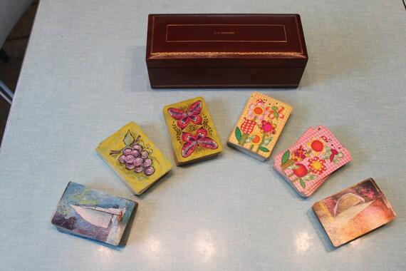 Vintage Playing Card Box Vintage Playing Card Holder