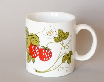 Hand Painted Strawberry Mug