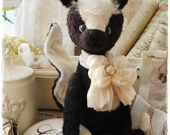 PDF Instant Download - Pattern / E-Book Skunk GUTCHI :) - 10 Inch - by Eileen Seifert - Teddy-Manufaktur.de