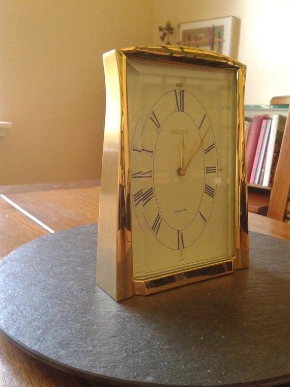 Working 90s seiko quartz mantel clock japan ikea home decor for Home decor 90s