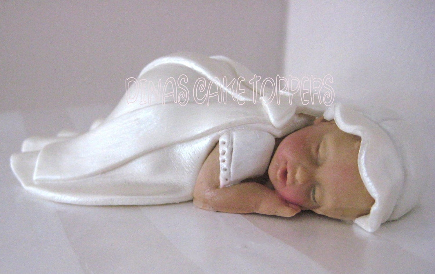 Cake Toppers Baby Christening : Baptism Christening Baby Cake Topper Gown Gum by ...