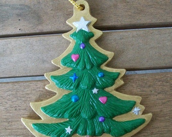 Handpainted Christmas Tree Ornament