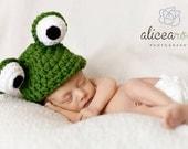 Baby Boy Hats, Baby Girl Hats, Frog baby hat unisex neutral color -  newborn beanie Photo props Newborn 0-3 months