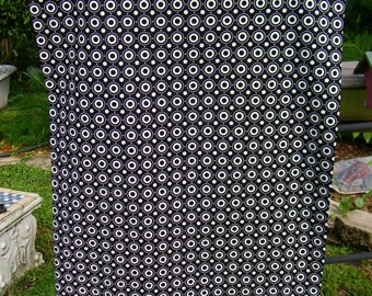 Handmade Pillow Case   Unique  One of a kind,   Black & White  Circles  Polk a Dots and  Dot Stripes