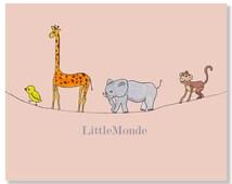 Baby Girl Nursery Prints, Zoo Nursery Print, Jungle Nursery Print, Elephant, Giraffe, Monkey, Bird, Pastel Pink