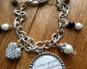Mother of the Groom Gift, Today a groom tomorrow a husband forever your son BRACELET, wedding gift mother of the groom beautiful quote