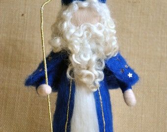 Christmas Waldorf inspired Needle felted /Standing doll: Saint Nicholas