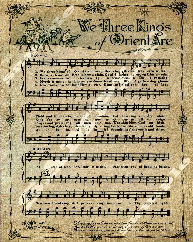 We Three Kings Christmas Holiday Art Religious Sheet Music