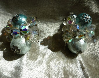 Vendome Baby Blue/Aquamarine Bon Bon Earrings