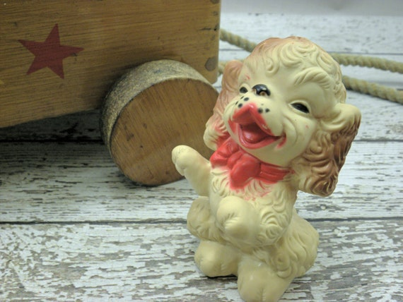 Vintage Squeaky baby toy Begging dog 1950s Edward Mobley