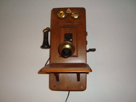 Antique Country Belle Radio Telephone - Vintage Wall Decor