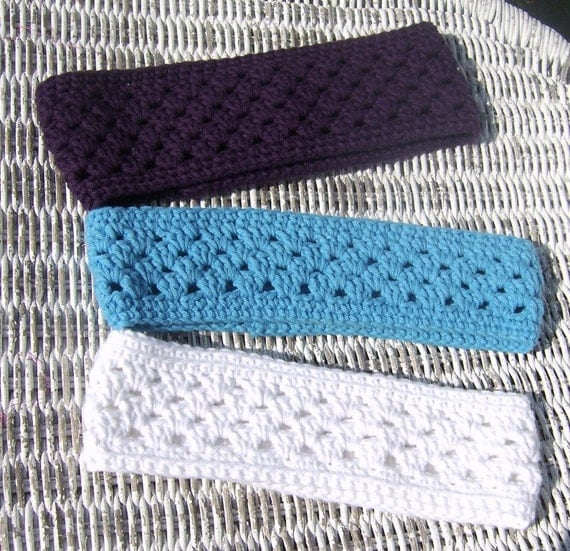 Crochet Pattern Ear Warmer with Matching by ...
