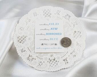 Vintage Wedding Sixpence - Genuine From England