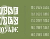 Horseshoes & Lemonade Font with Commercial Licensing