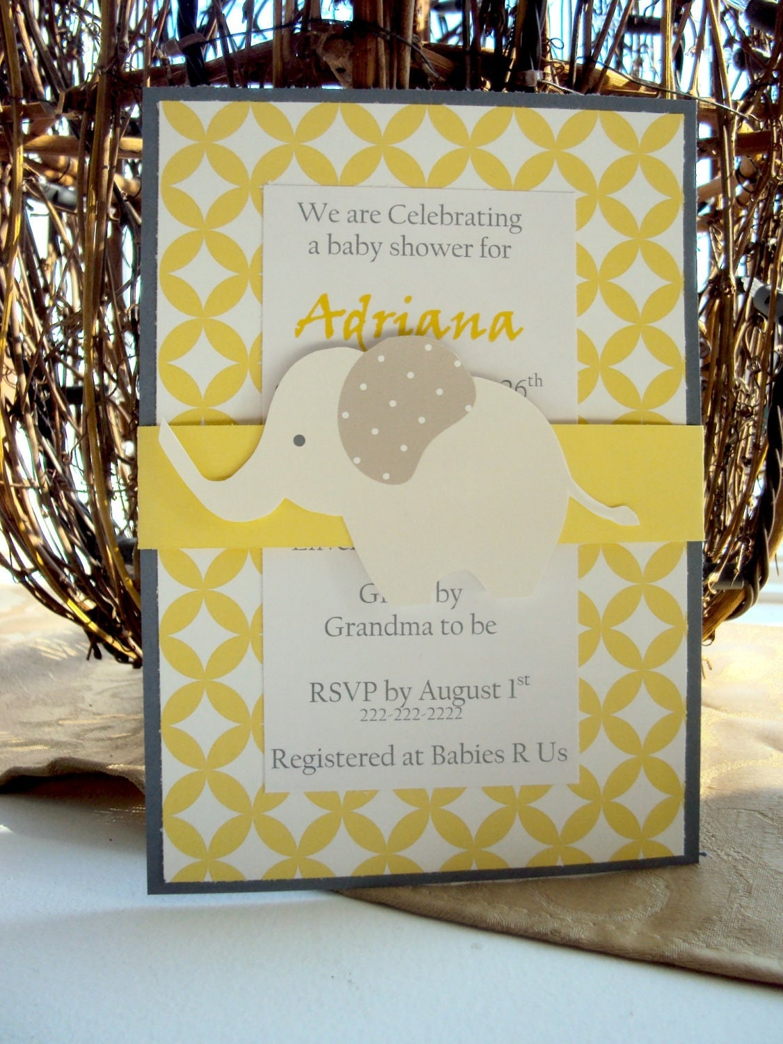 elephant birthday invitations baby shower by toocuteinvites