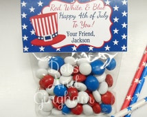 Fourth Of July Printable Treat Bag Toppers-4th of July Treat Bag Topper-Printable 4th of July Favor Bag Topper-Patriotic Treat Bag Topper