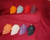 Handmade Scented Skull Spelle Candles for Wicca, Halloween, Day of the Dead, General Use. Buy 3 and Save.