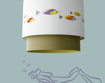 "Paper hanging lamp. ""PECES"""