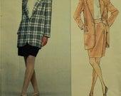 "Jacket & Skirt by Perry Ellis -1990's -Vogue American Designer Pattern 2649  Uncut   Size 14-16-18  Bust 36-38-40"""