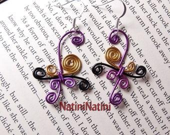 Spiraled earrings