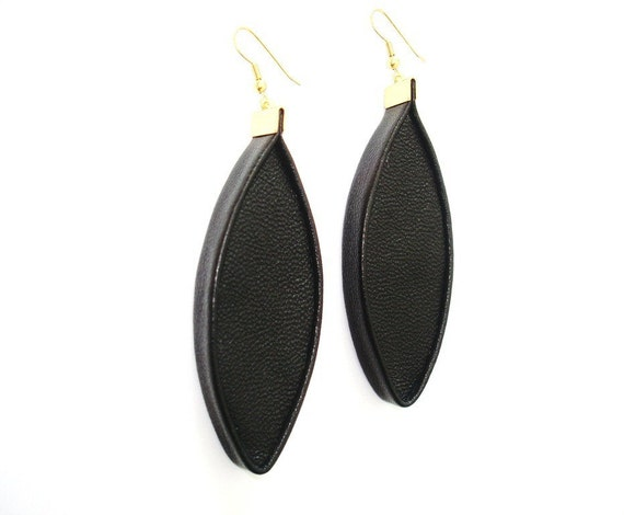 3D Leather Earrings Leather Jewellery Statement Jewellery Statement Earrings Dangle Earrings Gift for Her