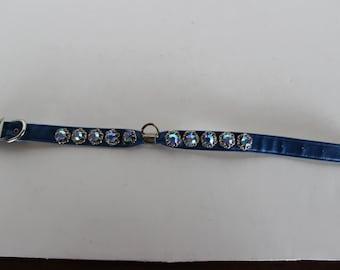 Vintage Dog Collar, Blue