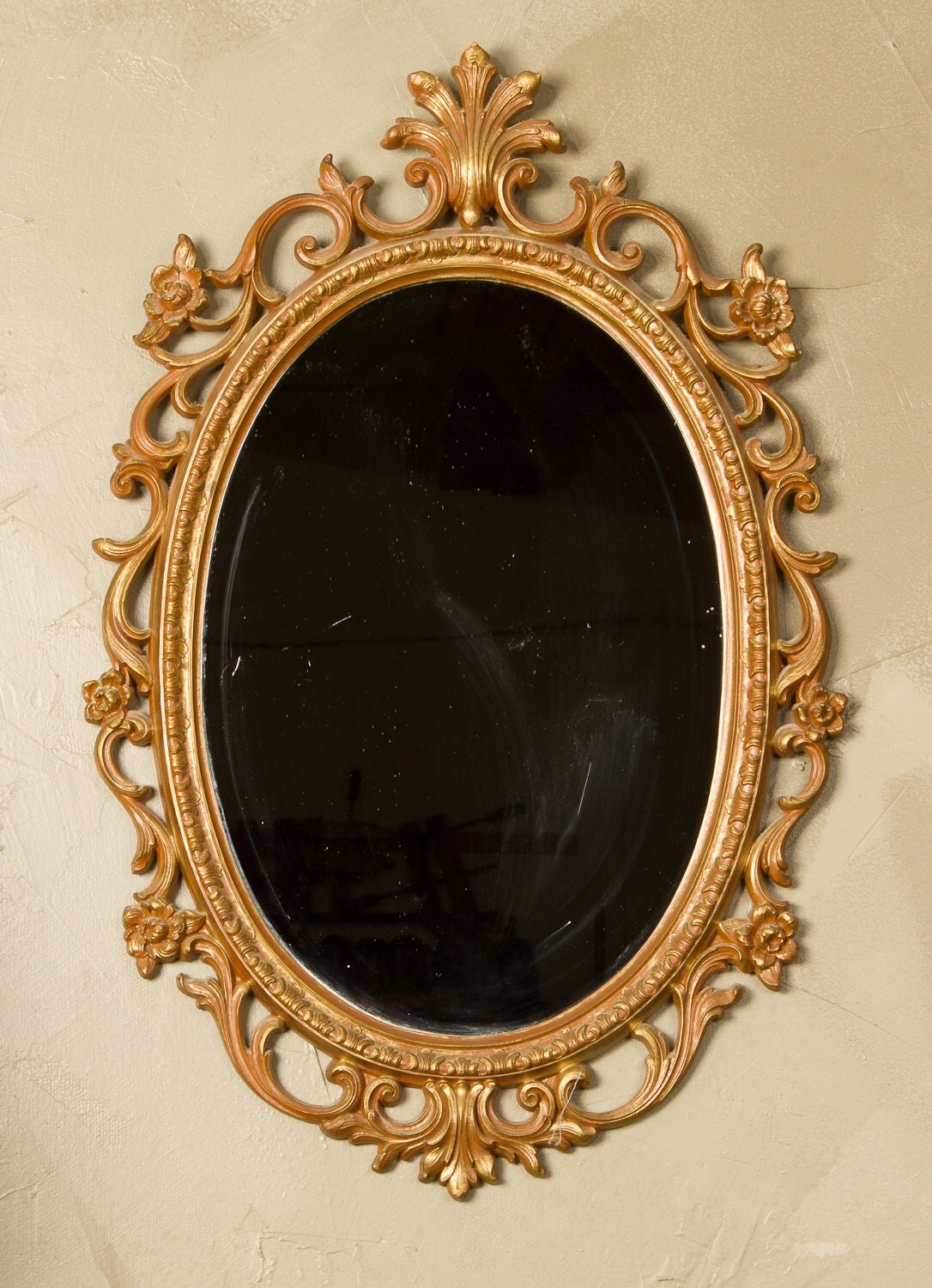 Details about brass photo frame vintage ornate oval frame victorian - Syroco Mirror Frame