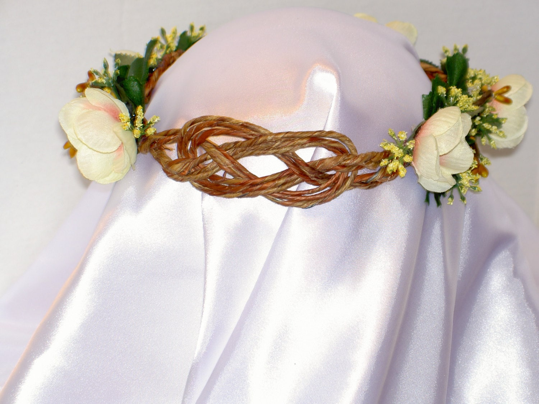 Bridal Flower Wreath For Hair : Hair wreath or garland for brides flower girls bride s