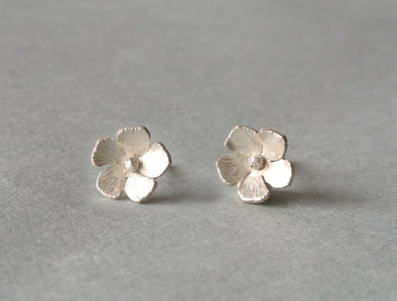 Periwinkle Flower Earrings