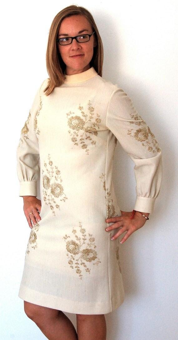 Vintage Dress - 1960s Wool R&K Knits Vintage Dress