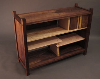 TV Console Cabinet: Mid Century Modern Media Console, Wood TV stand, Entertainment Center- Handmade Wood Furniture