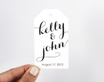 Wedding Favor Tag - Custom Wedding Favor Tags - Custom Name Tags - Personalized Name Tags - Wedding Favor Tag - LARGE