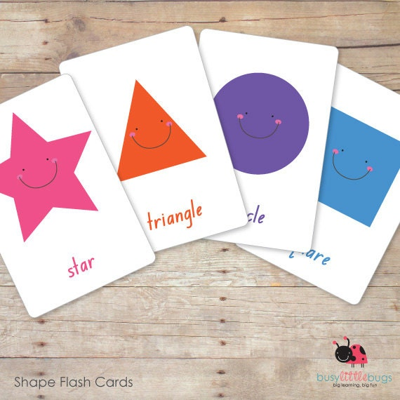 Printable Shape Flashcards Automatic By Busylittlebugsshop