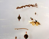 Seed Mobile, made from natural materials, Ecological home decor, green living,