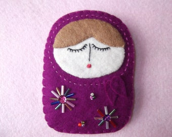 Felt Russian Doll Needlecase