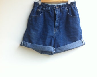 Vintage Jean Shorts / High waisted 1980s Lee / medium to large
