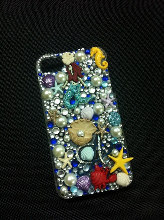 The Little Mermaid inspired iPhone4 Case MADE TO ORDER