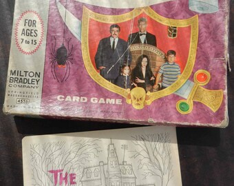 Addams Family Card Game Vintage 1960s