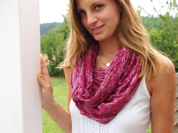 Pink Infinity Scarf Jersey Camo Womens Neck Scarf