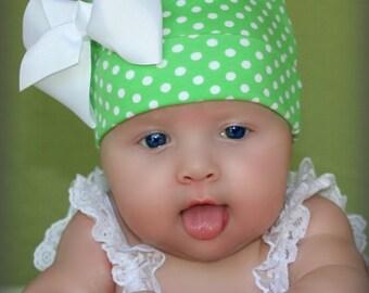 Infant Beanie.Newborn Beanie.Baby Beanie. Newborn Hat.Baby Girl Beanie. Baby Hat.Bow Beanie. Hospital Beanie.Cotton Hat. Cotton Beanie Bow