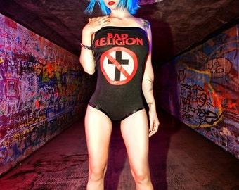 Hell on Heels Couture Bad Religion Band Tee Bodysuit