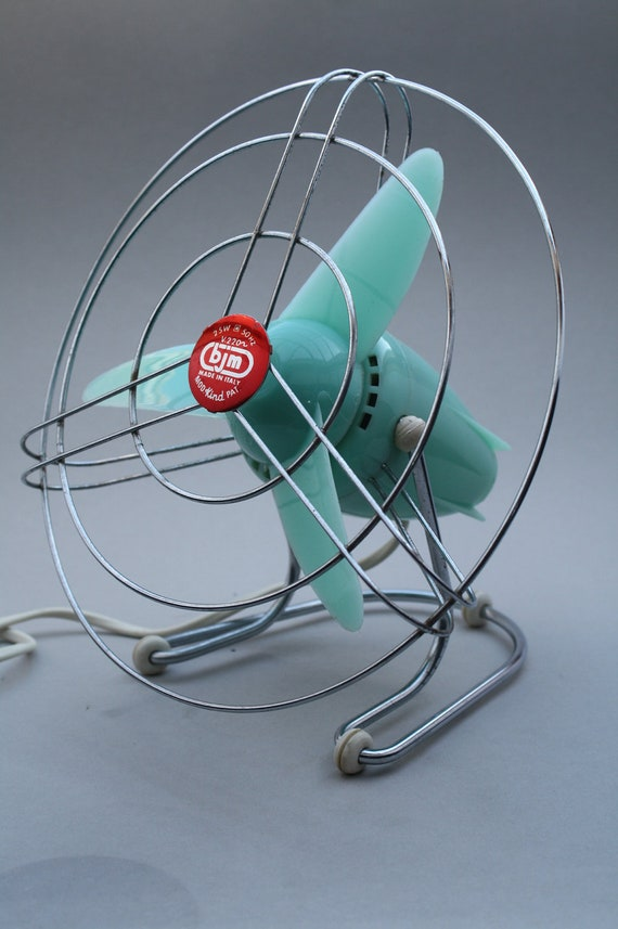 Vintage Fan made by BJM in Italy in the 1960's