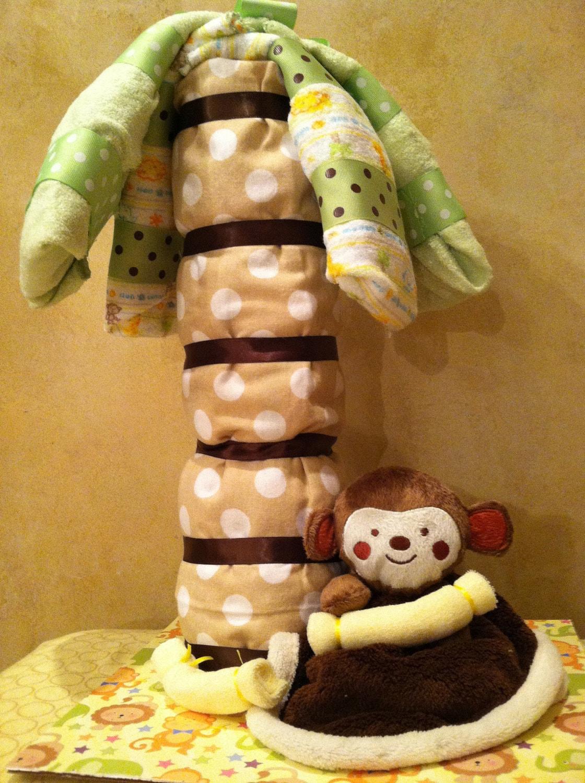 Baby Monkey Diaper Cake Set