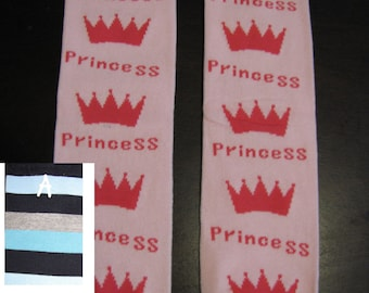 PRINCESS baby leg warmers.  Great for babies, toddlers, and young kids