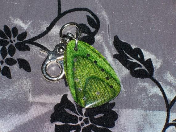 Green Pakkawood Key Chain Fob (126)