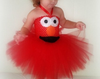 Elmo Costume Tutu Dress